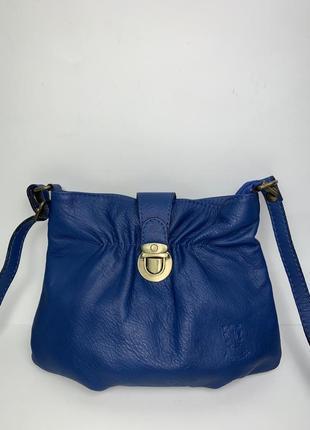 Италия! кожаная фирменная сумочка на/ через плечо borse in pelle.