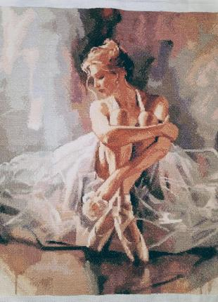 "Вышитая картина ""балерина"" тм dantel"
