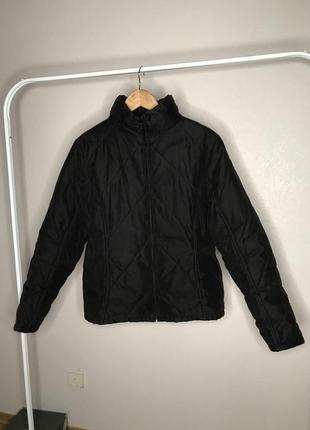 Черная коричневая куртка весенняя демисезонная дутик в стиле bershka пуховик синтепон