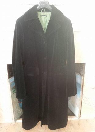 Sisley классическое бархатное пальто р. 46 италия