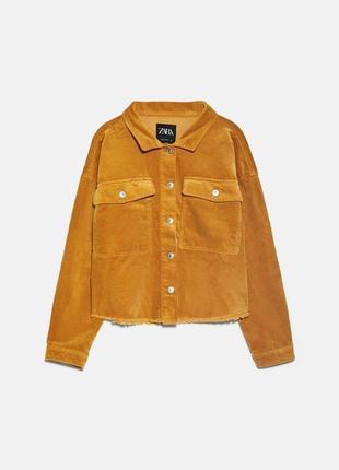 Укороченная вельветовая куртка/рубашка
