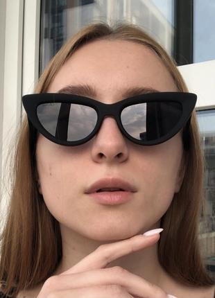 Матовые очки в оправе кошачий глаз