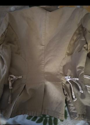 Пиджак девчачий  винтаж с  крокодиловыми и шелковыми  вставками, оригинал.9 фото