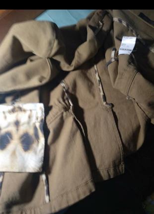 Пиджак девчачий  винтаж с  крокодиловыми и шелковыми  вставками, оригинал.5 фото