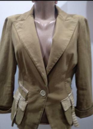 Пиджак девчачий  винтаж с  крокодиловыми и шелковыми  вставками, оригинал.1 фото