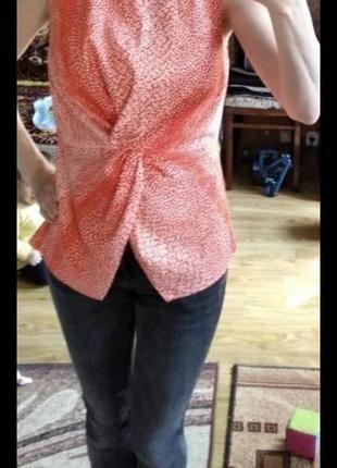 Блуза майка с узлом