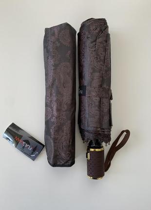 Прочный и стильный зонт из жаккардовой ткани! цвет: шоколад