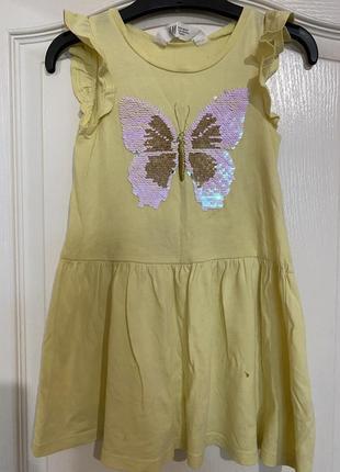 Платье сарафан h&m 2-4 р. 104