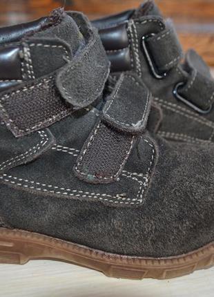 Зимние ботинки 29 размера. замш