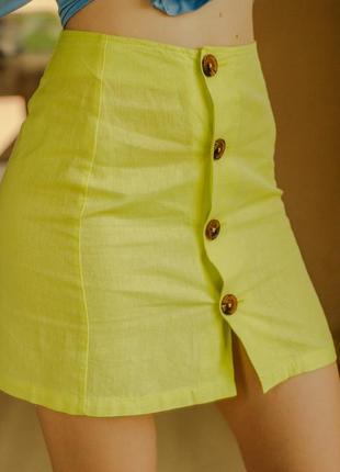Яркая летняя юбка на пуговках3 фото