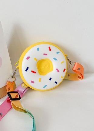 Маленькая силиконовая сумочка пончик э