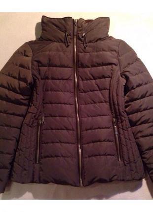 Пуховик зимний куртка пуховая коричневая зимняя теплая качественная