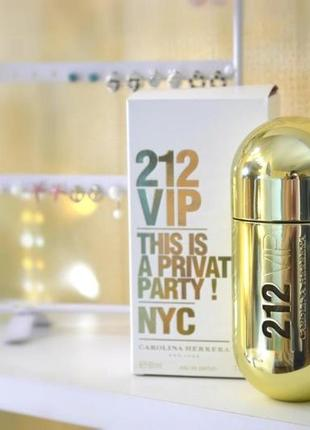 Carolina herrera 212 vip_women оригинал_eau de parfum 5 мл затест