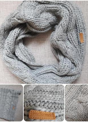 Вязаный шарф хомут