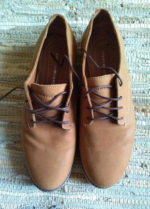Мужские туфли hilfiger р.45, 44 новые рыжие коричневые нубук