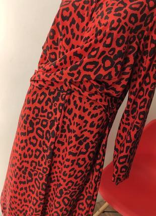 Яркое роковое платье в леопардовий принт ❣️7 фото