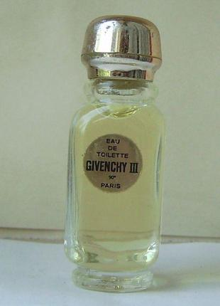 Givenchy iii - edt - 4 мл. оригінал. вінтаж