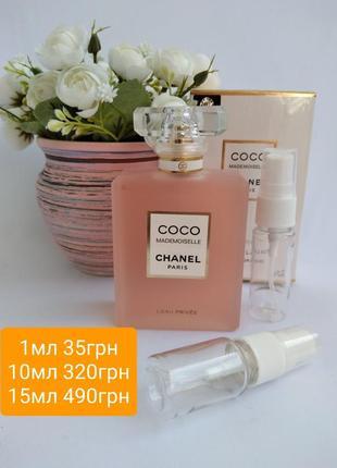 Chanel mademoiselle prive распив духов отливант парфюмированная вода духи