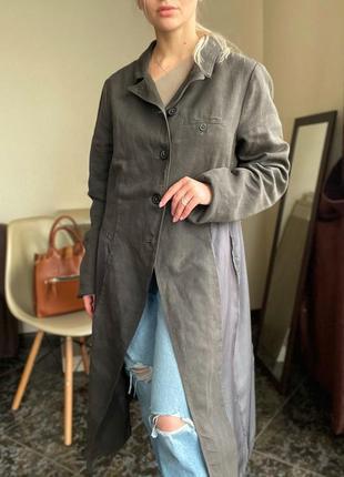 Льняной пиджак, жакет  длинный rundholz оригинал