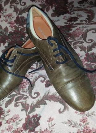 Чоловiчi шкiрянi туфлi san marina (мужские кожаные туфли san marina).можливий торг.