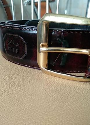Кожаный colf club брендовый ремень.