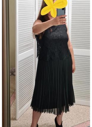 Кружевное платье с юбкой плиссе bonmarche вечернее платье плиссе