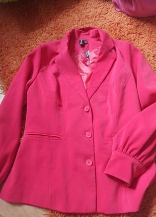Пиджак розовый шикарный1 фото