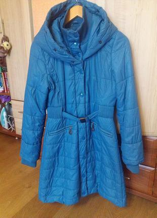 Тёплое демисезонное пальто куртка