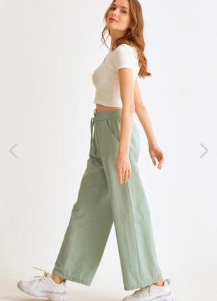 Новые летние брюки кюлоты на резинке