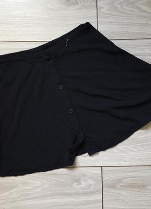 Короткая чёрная юбка на пуговицах xs xxs
