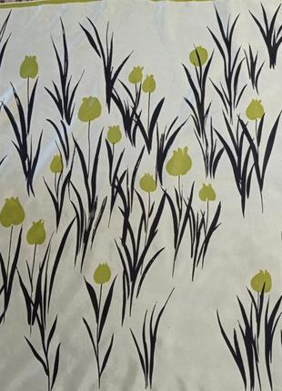 Шелковый шарф платок тюльпаны