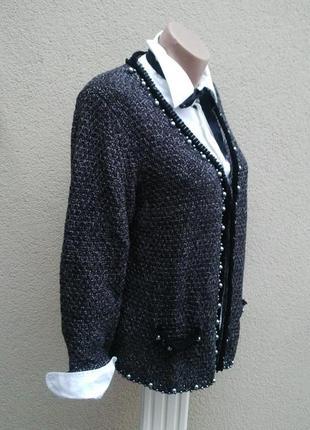 ... Вязаный,трикотаж.кардиган,кофта,жакет,пиджак, рюши в стиле шанель ... 86c5bbc2298