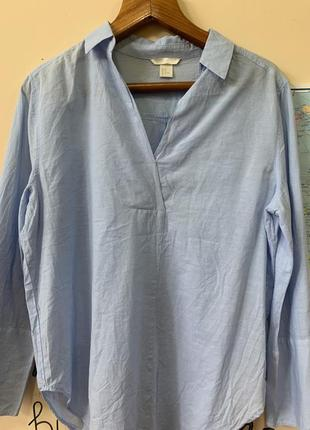 Рубашка с широкими рукавами
