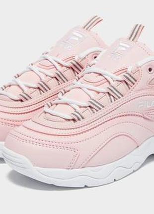 Кроссовки fila ray pink/white