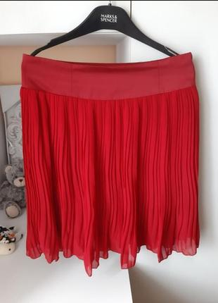 Спідниця базова миди міді юпка плісе плисе спідничка плаття платя сукня бурдова бордо вишнева