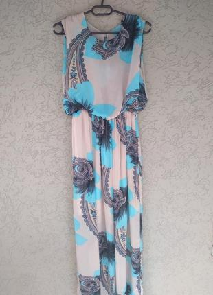 Нарядное длинное платье