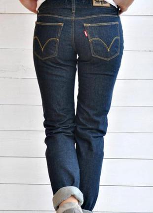 Офигенные базовые темные джинсы levis
