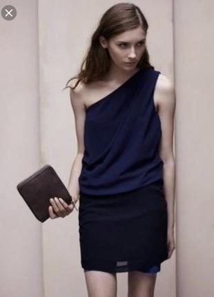 Платье acne синего цвета мини