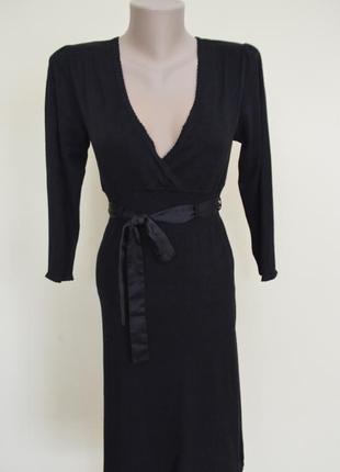 Классическое черное платье из приятной вискозы