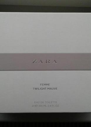 Made in spain! zara femme 100 ml + twilight mauve 100 ml