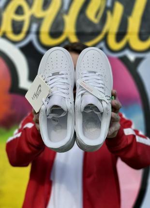 Шикарные мужские кроссовки nike air force 1 low white белые кросівки3 фото