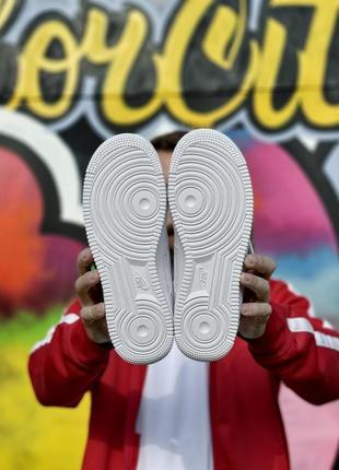 Шикарные мужские кроссовки nike air force 1 low white белые кросівки9 фото