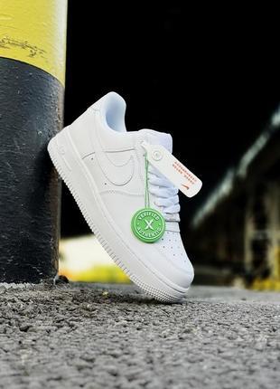 Шикарные мужские кроссовки nike air force 1 low white белые кросівки7 фото