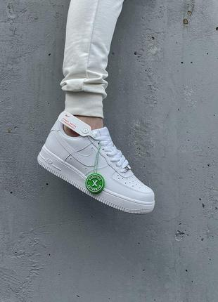 Шикарные мужские кроссовки nike air force 1 low white белые кросівки