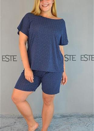 Пижама женская из вискозы большие размеры.
