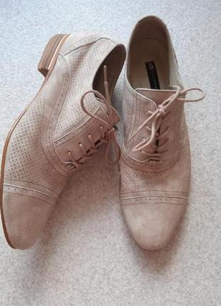 Оксфорды броги замшевые туфли с перфорацией luciano carvari