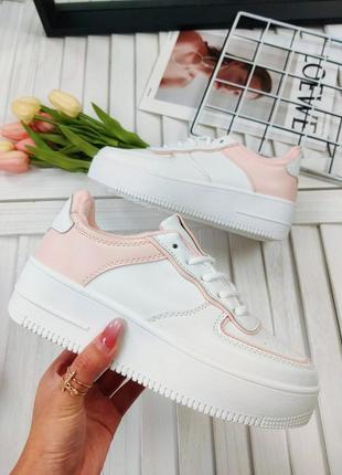 Белые форсы с розовыми вставками