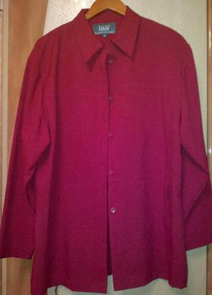 Кардиган  рубашка пиджачок linea   батал  марсала   ягодный