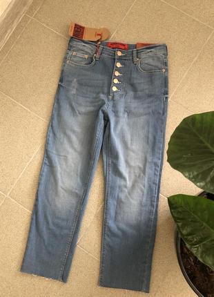 Светлые прямые джинсы )