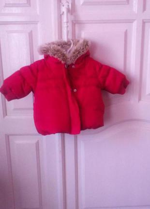 Теплая зимняя курточка next для малышки